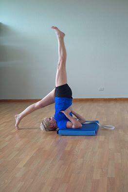 Yoga shoulder stand variation