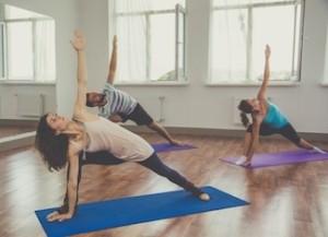 Yoga School Revolved Side Angle Pose