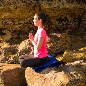 Yoga pose - seated prayer