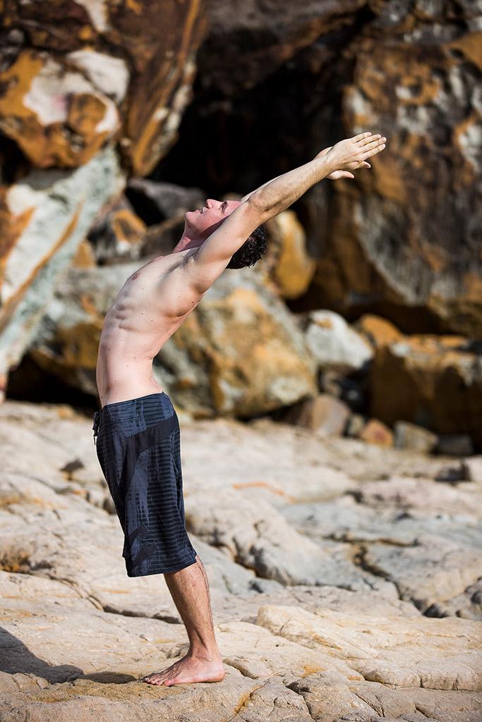 Man performing Yoga Asana